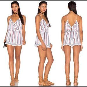Tularosa Amelia Romper in Blue & Red Stripe Size M